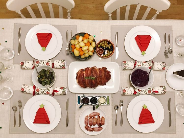 Togetherness Celebration Food Christmas Party Christmastime Turkey Festive Season Christmas Time Feast Christmas Dinner Table Setting Variation Healthy Eating Plate Hotel Meat Place Setting Indoors  Food And Drink No People Buffet Choice