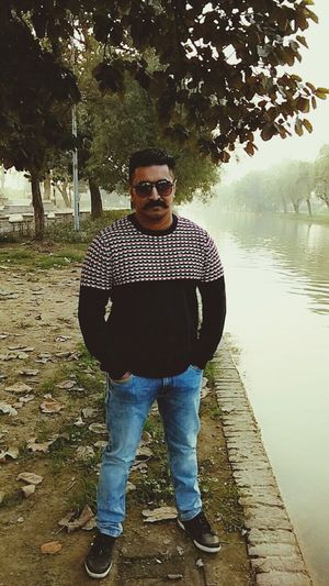 Lahore Vication Tour Selfies Fog Only Men One Man Only One Person Adults Only Adult Reflection Water Nature Portrait Tree