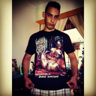 La bainaaa maniiiin el shirt de Infectedflesh Brutaldeathmetal Deathmetal Grindcore Pornogore Goregrind