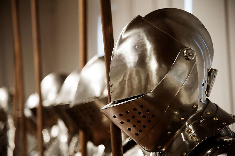 Helmets of ancient armors