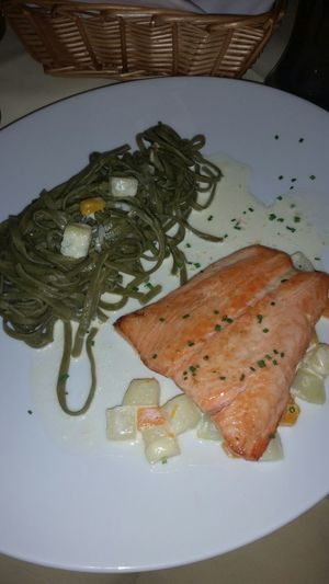 Salmon and Tagliatellie
