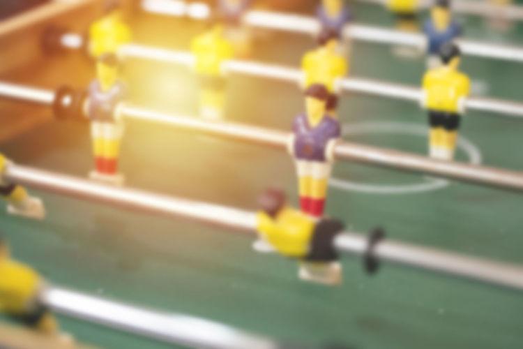 Close-up of yellow figurine