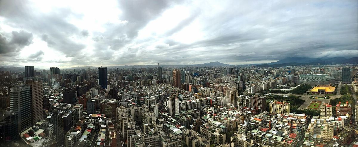 Cityscape Urban Skyline Sky Cloud - Sky No People Modern Downtown District City Taipei,Taiwan