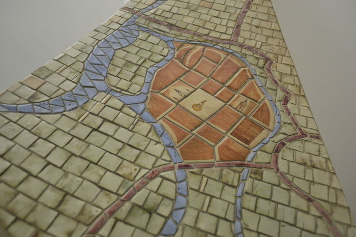 Map Mosaic Mosaic Art Old Town Town Town Hall