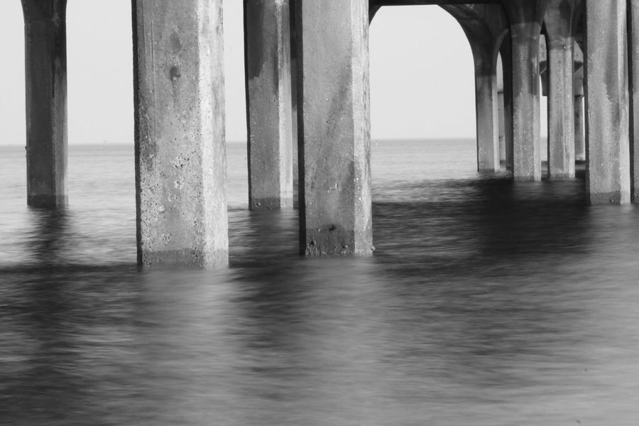 Long Exposure Sea Water Architectural Column Architecture Sky No People Nature Horizon Over Water Built Structure Horizon Day Pier Arch Bridge Underneath Waterfront Indoors  Connection