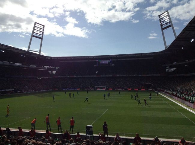 Werder Bremen vs. Eintracht Frankfurt  at Weserstadion Bremen. (Delayed.) · Germany Osterdeich Stadium Bundesliga Football Match Football Real Football Fussball Football Field Players Sports Playing Winning Crowd Fans Sunny Day &c. Pp.