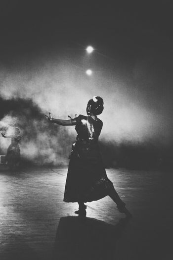 Indian Dance HumanArt Blackwhite
