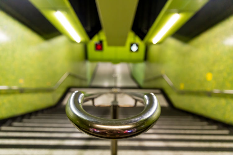 Hong Kong MTR metro subway ASIA Hong Kong Metro Station Underground Architecture China Focus On Foreground Green Color Indoors  Public Transportation Rail Transportation Railing Selective Focus Steel Subway Train