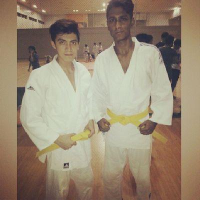 Yeah we passed our grading test! Asian  Singapore Asiandude Judo martialart yellowbelt grading じゅど student sports Japaneseart がっこせき