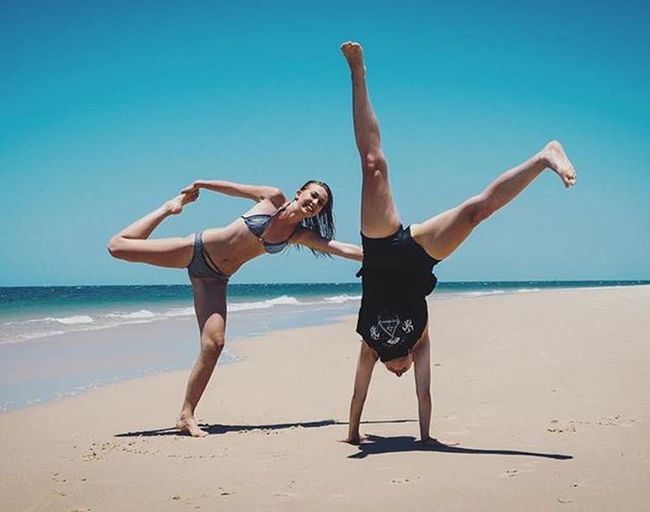 Repost from @muasarahj of her and @anjachristoffersen having fun after our @alciemaydesigns photoshoot・・・ The most important thing is loving what you do and making the most of it while enjoying it with those around you 😊🌊 @anjachristoffersen Muasarahj Loveit Gymnastics Gymnasticsfail Summer Sand Waves Beach Summertime Summer2015 Photoshoot Model Fun Freespirit Bikini Fashion Designer  Makeupartist Beachday Bribieisland Woorim Photographer Photography Fashionista picoftheday mua model fun