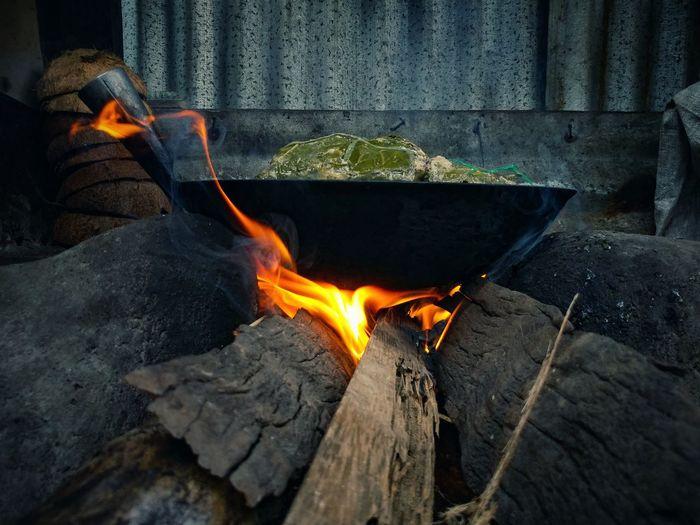 Eyeem Philippines Filipino Food Filipino Culture Cooking Filipino Filipino Style Flame Heat - Temperature Glowing Close-up Firewood Burning Wood Burning Stove Fire Lit Heat Woodpile