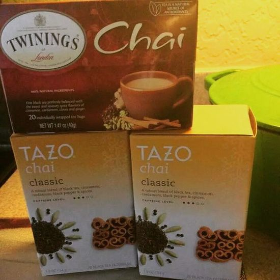 That moment you realize you have enough Chai tea for a lifetime ❤Chaitea Tazo Twinnings Tea love