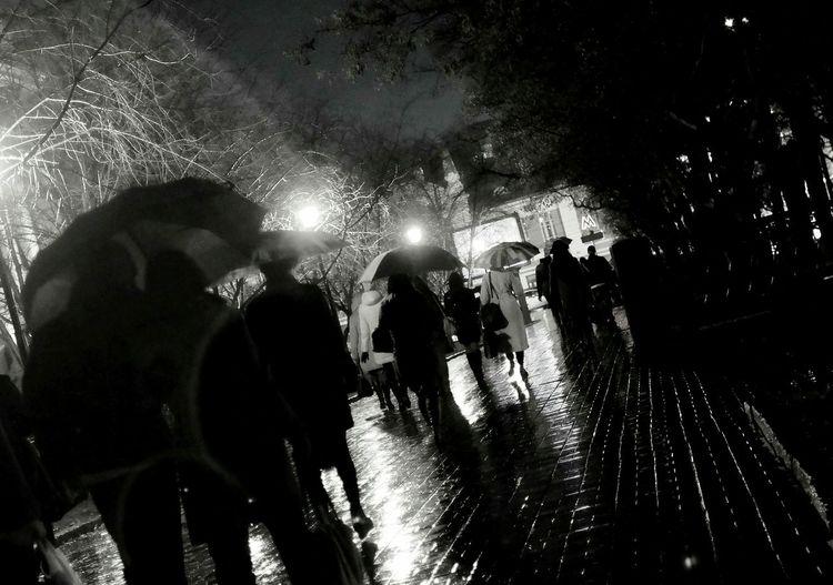 Bw Rain Night Lights осень Street Streetphotography Black&white Light And Shadow