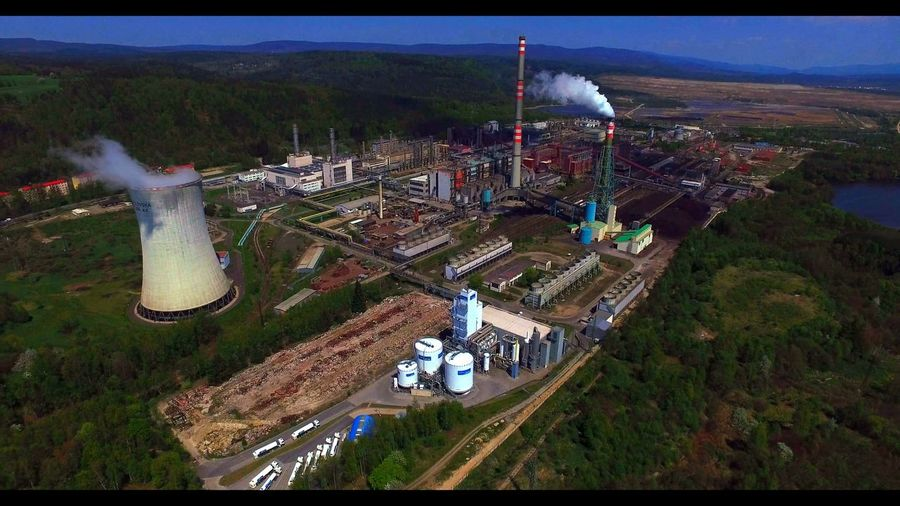 Aerial View Coalplant Dronephotography Energy Factory High Angle View Nice View No People Outdoors