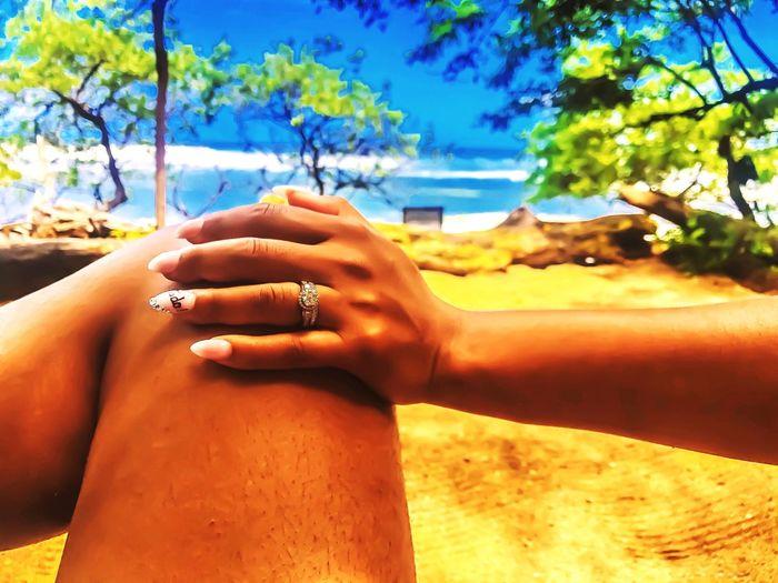 Everything is Love. EyeEm Best Shots - Landscape EyeEm Best Edits EyeEmNewHere EyeEm Nature Lover Scenics Happy Wife Happy Life  Marriage  Love Cala Luna Costa Rica 🇨🇷 Costa Rica Human Hand Hand Human Body Part Sunlight Women