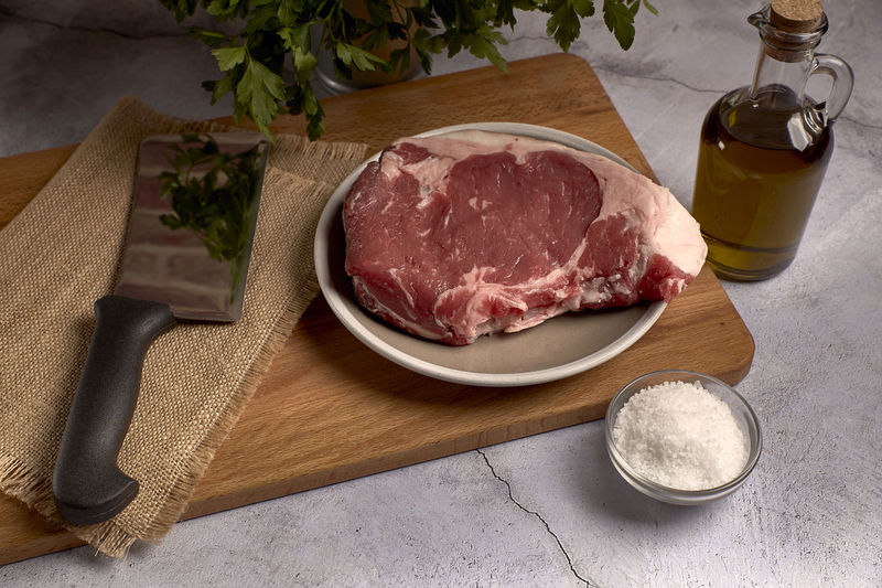 red veal chop