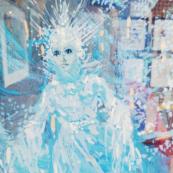Girl Snow Snow Queen Portrait Of A Woman