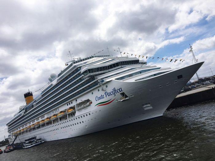 Costa Pacifica Cloud - Sky Nautical Vessel Sky Water Mode Of Transportation Transportation Sea