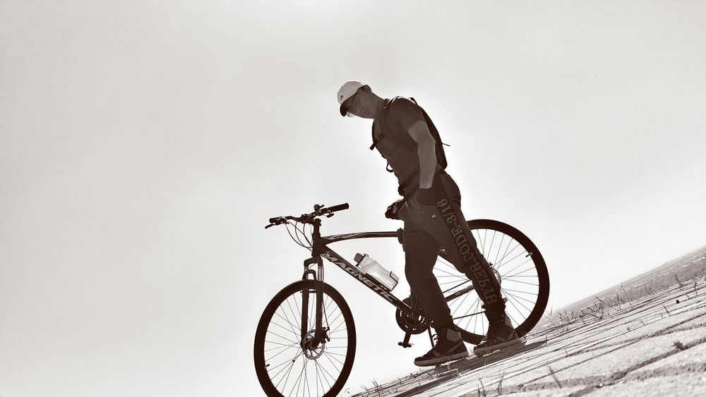 Hi Bicycle Cycling One Man Only Silhouette Only Men One Person Full Length Adults Only Outdoors People Adventure Day Adult Healthy Lifestyle Sky Mountain Bike Antalya Turkey Blackandwhite Black & White Freedom That's Me