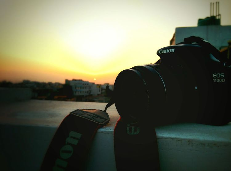 Capture The Moment My Camera Canon Eos 1100 D will be my best buddy till the end of my life..📷😊 Sunset Orangesky Beautiful Moment love my camera much😊 EyeEm Nature Lover