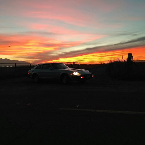 Beautiful Sunset No Filter Check This Out Classic Car Classic Beauty 280ZX Datsun Light And Shadow Taking Photos Vintage Cars
