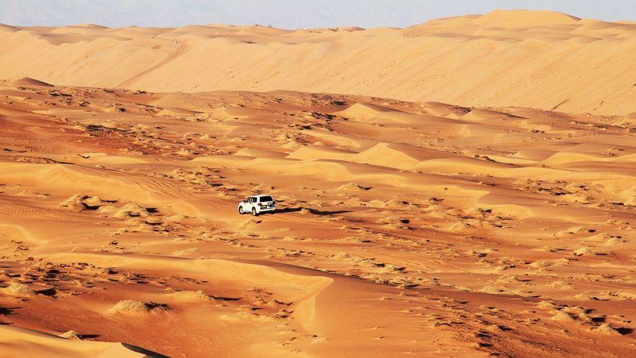 Off-Road Vehicle At Desert