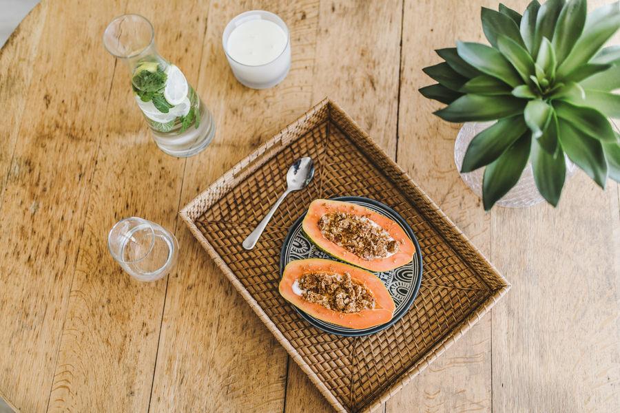 Freshness Close-up Shot Food Healthy Eating Papaya