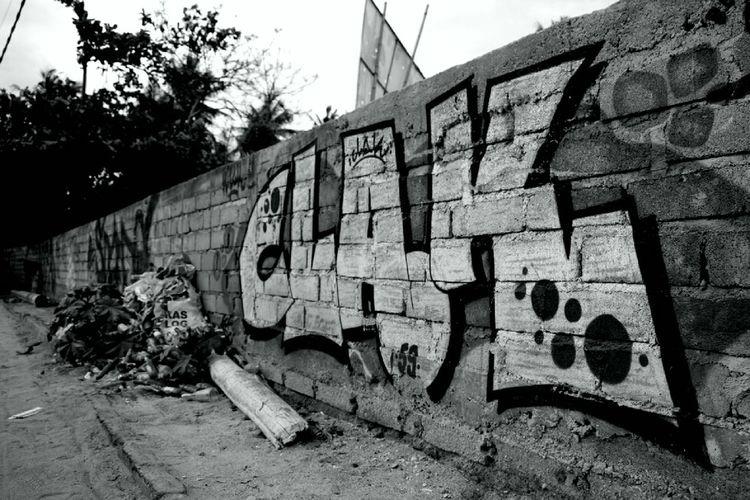 Graffiti on built structure