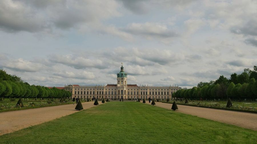 Schloss Charlottenburg in Berlin Politics And Government City Tree Statue Sky Architecture Grass Cloud - Sky Green Color Palace Parliament Building Royalty Historic Dome