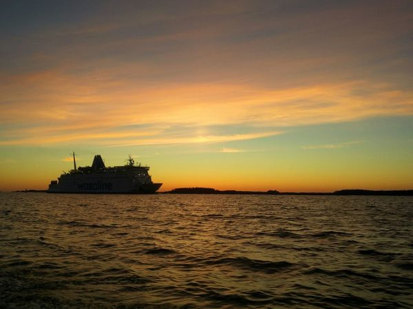 On The Way The Journey Is The Destination Ship Ocean View Sunset On The Ocean Landscape_photography Sky Enjoying Life Summernight