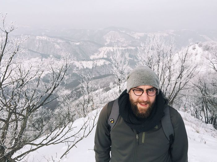 """Gonzo The Joyful"", moment before reaching mountaintop Ostrc, Nature Park Zumberak - Samoborsko gorje, Croatia, 2017. Friend Mountaintop Ostrc Samobor Samoborsko Gorje Croatia Winter Snow Mountain Hill Cap Cold Temperature Portrait Leisure Activity Warm Clothing Uniqueness"