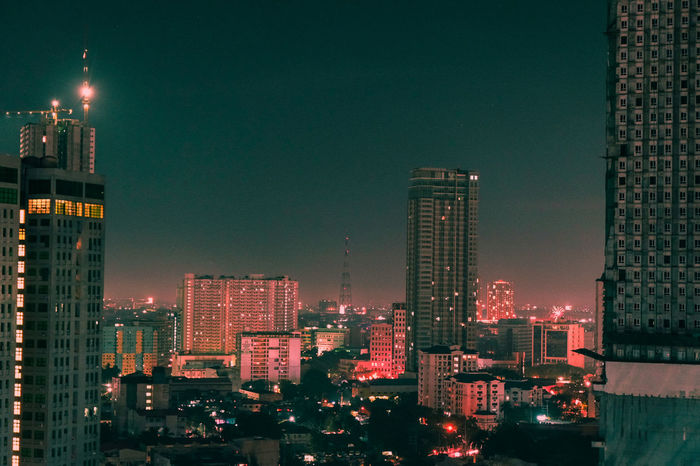 The City few hours before 2018 Quezon City Orange And Teal Falsecolor Philippines Midnight Photography EyeEm Ready   Streetphotography City Office City Life Outdoors Office Building Exterior