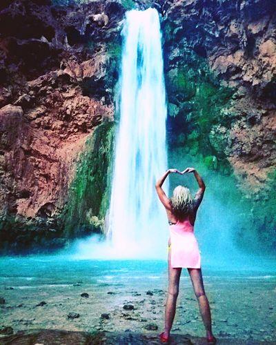 Colour Of Life Havasu Havasupai Havasu Falls Mooneyfalls Arizona Arizona <3 Waterfall Waterfalls waterfalls Waterfall_collection Waterfall #water #landscape #nature #beautiful Waterfalls And Calming Views  Love Bucketlist That's Me Hearts Heart Shape Summer Summer2016 Hikingadventures Hiking Supai, Supai,AZ Supai, AZ