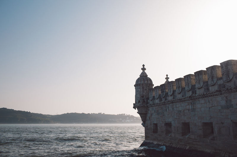 Lisbon Lisboa Portugal Sky Clear Sky Water Nature Copy Space Sea Travel Destinations Travel Tourism Architecture History Built Structure The Past No People Scenics - Nature Building Exterior Day Waterfront Outdoors
