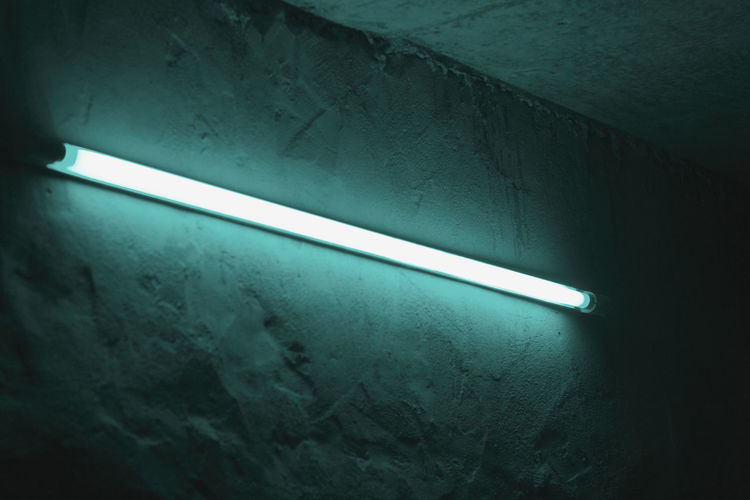 Close-up view of illuminated light