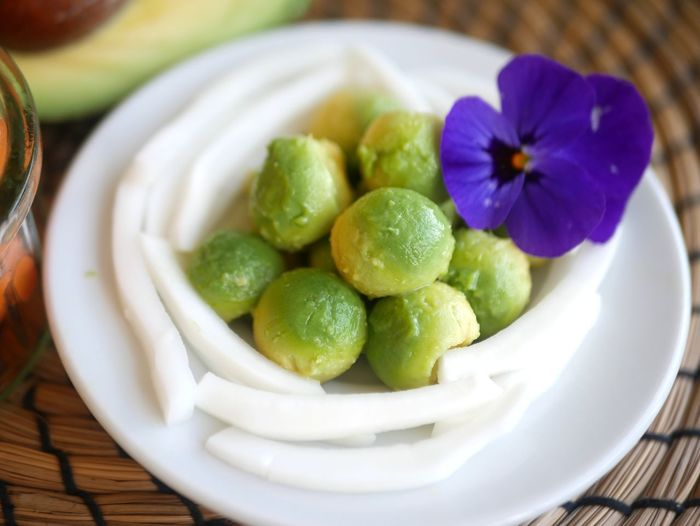 Avocado Youngcoconut Gourmet Fruit Flower Food Staple Plate Close-up Food And Drink Sweet Food Green Color