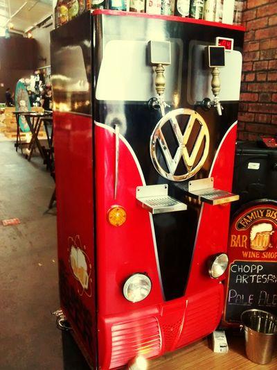 Volkswagen Kombi Van Beers Beer Chopp VW Refrigerator Goods