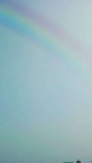 Close-up of rainbow against clear sky