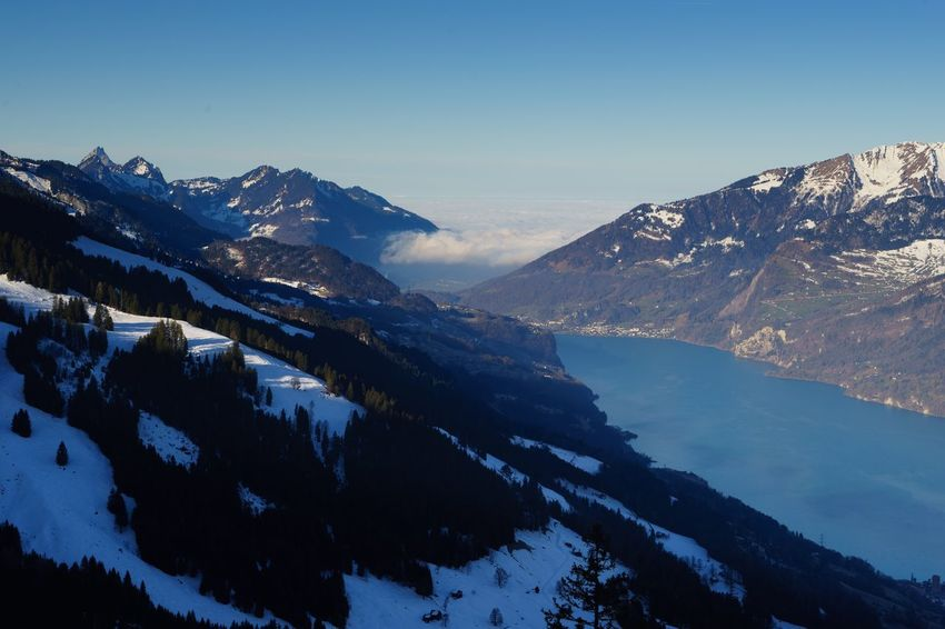 Morning view on the Walensee... Switzerland Walensee Flumserberg Mountain Mountain Range Scenics Beauty In Nature Nature Tranquil Scene Tranquility Lake Winter Landscape