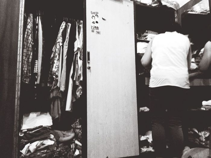 Searching for a missing clothes