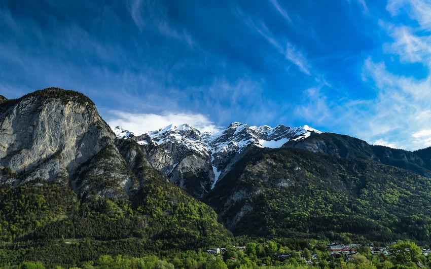 sunday Mountain Snow Mountain Peak Sky Mountain Range Landscape Snowcapped Mountain Scenics Snow Covered Idyllic