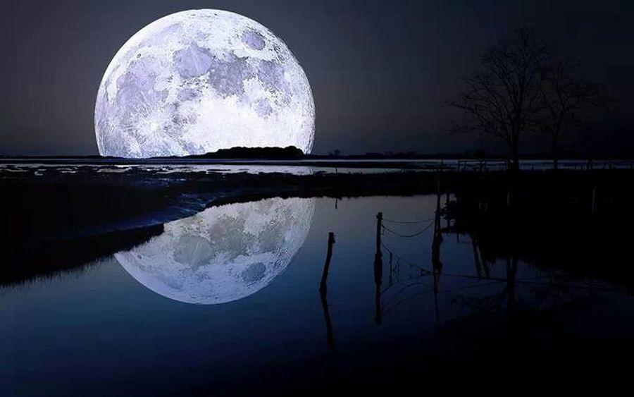 Full Moon Night Alone Rain