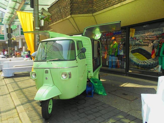 City City Life Colors Day Food Truck Green Color Multi Colored Outdoors Parking Stationary