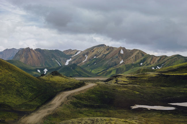 More painterly hills from Iceland. Truly loved this landscape! Iceland Iceland Memories Landscape_Collection Nature Beauty In Nature Cloud - Sky Iceland_collection Icelandtrip Landmannalaugar Landscape Mountain Nature Nature_collection No People Outdoors Scenics