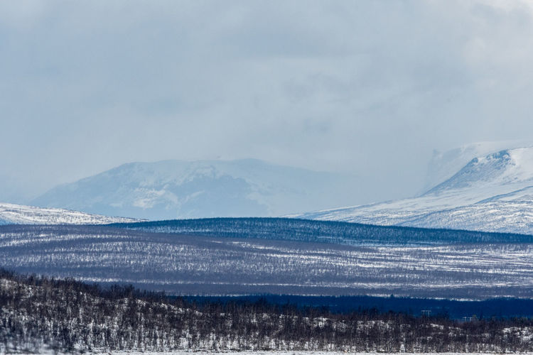 Kiruna mountain view 4 Beauty In Nature Cold Temperature Day Frozen Kiruna Landscape Mountain Nature No People Outdoors Scenics Sky Snow Sweden Tranquil Scene Tranquility Weather Winter