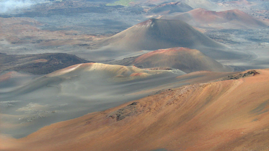 Scenic view of volcanos at haleakala national park