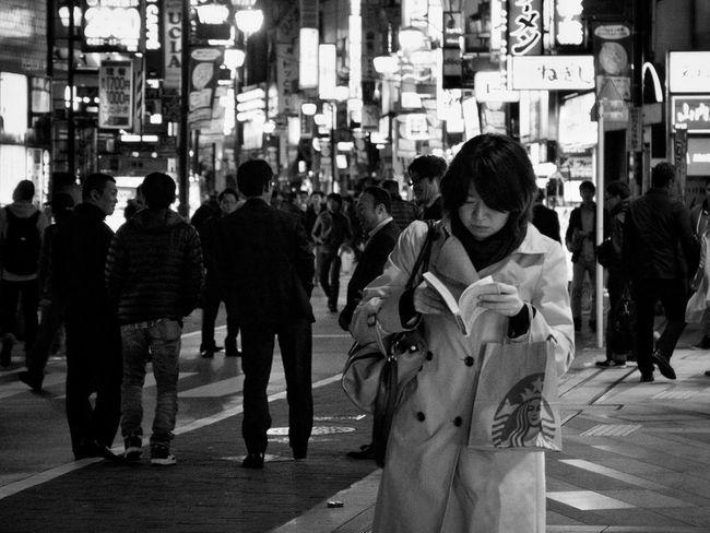 B&w Street Photography Night Photography Streetphotography_bw On The Road People City Street Snapshot Snapshots Of Life Nightphotography Kichijoji 吉祥寺 , Tokyo Japan