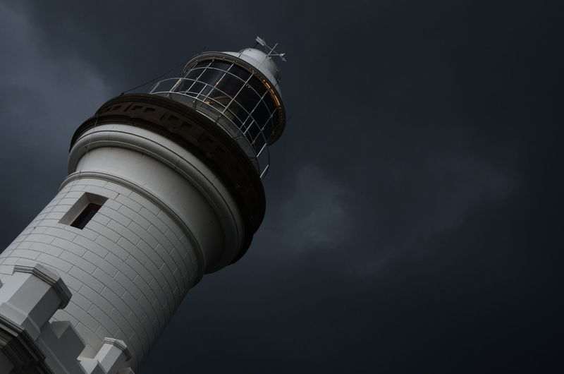 Architecture Building Exterior Built Structure Byron Bay Byron Bay Lighthouse Cloud - Sky Lighthouse By Jj Low Angle View Night No People Outdoors Overcast Sky Storm Storm Cloud Storm Clouds Tower Travel Destinations