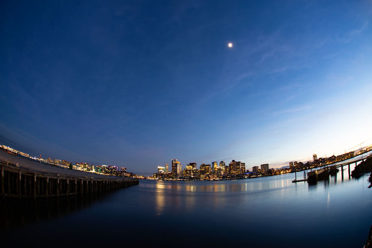 180° Illuminated Moonlight Outdoors Reflection Sky Waterfront Wide Angle