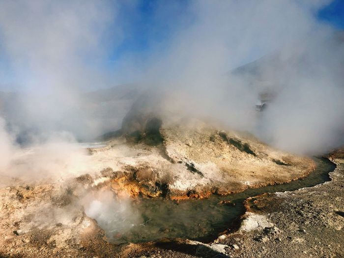 Chile Smoke - Physical Structure Power In Nature Geology Steam Physical Geography Power Heat - Temperature Land Beauty In Nature Non-urban Scene Erupting Environment Nature Geyser Motion